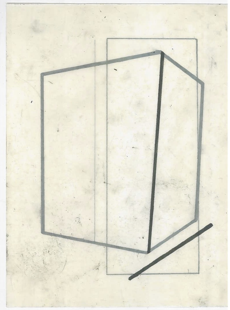Architecture in transit (the city, observations 24B)  Pencil on oiled fabriano paper  140mm x 180mm  December 2013