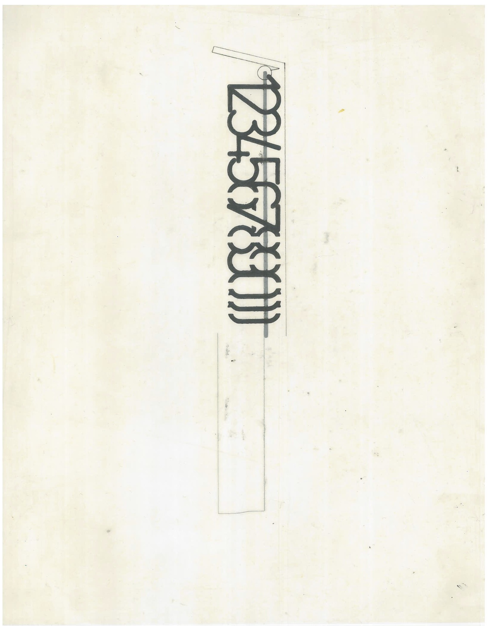 Untitled (the city, observations 23B)  Pencil on oiled fabriano paper  279mm x 216mm  December 2013