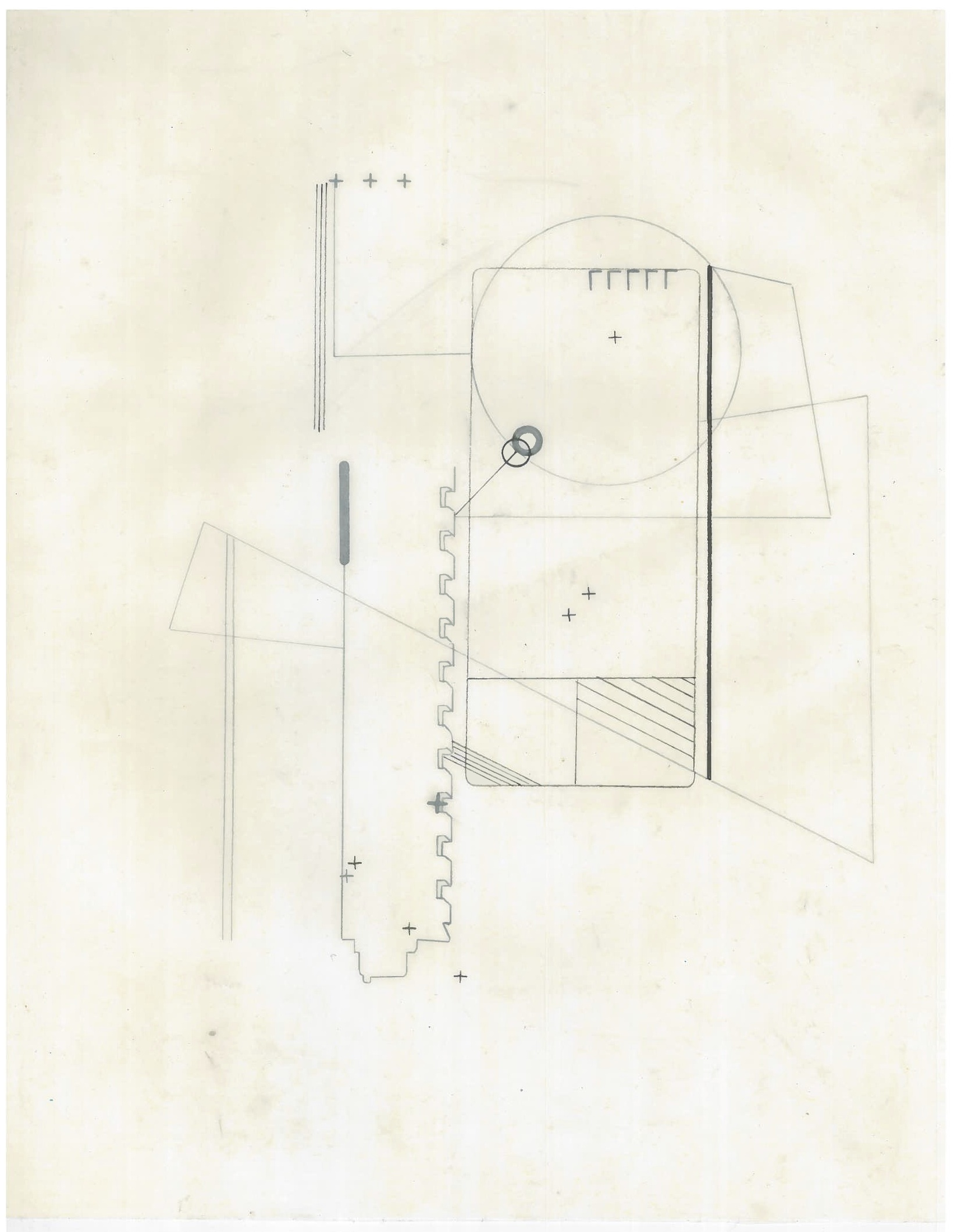 Untitled (the city, observations 22A)  Pencil on oiled fabriano paper  279mm x 216mm  December 2013