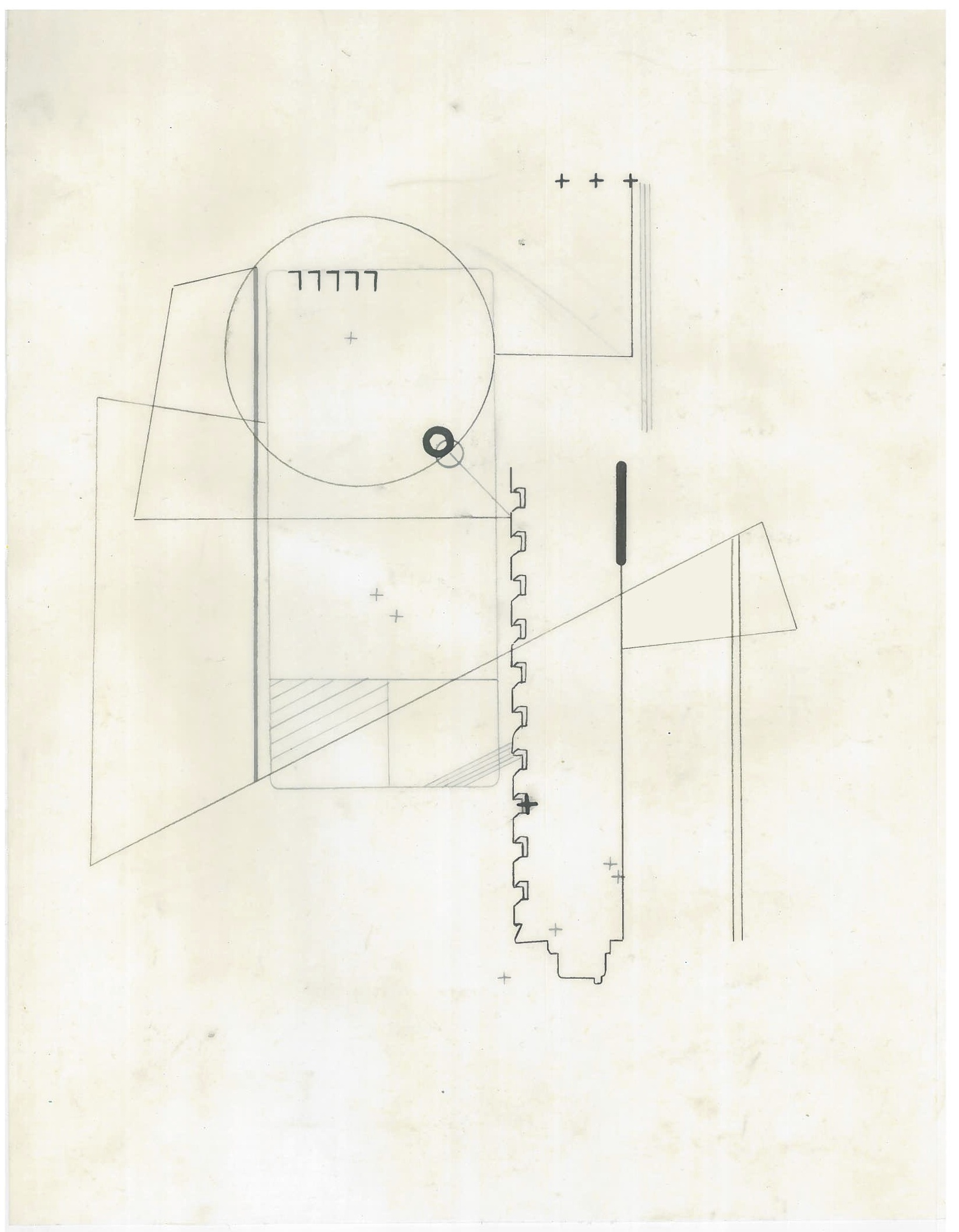 Untitled (the city, observations 22B)  Pencil on oiled fabriano paper  279mm x 216mm  December 2013
