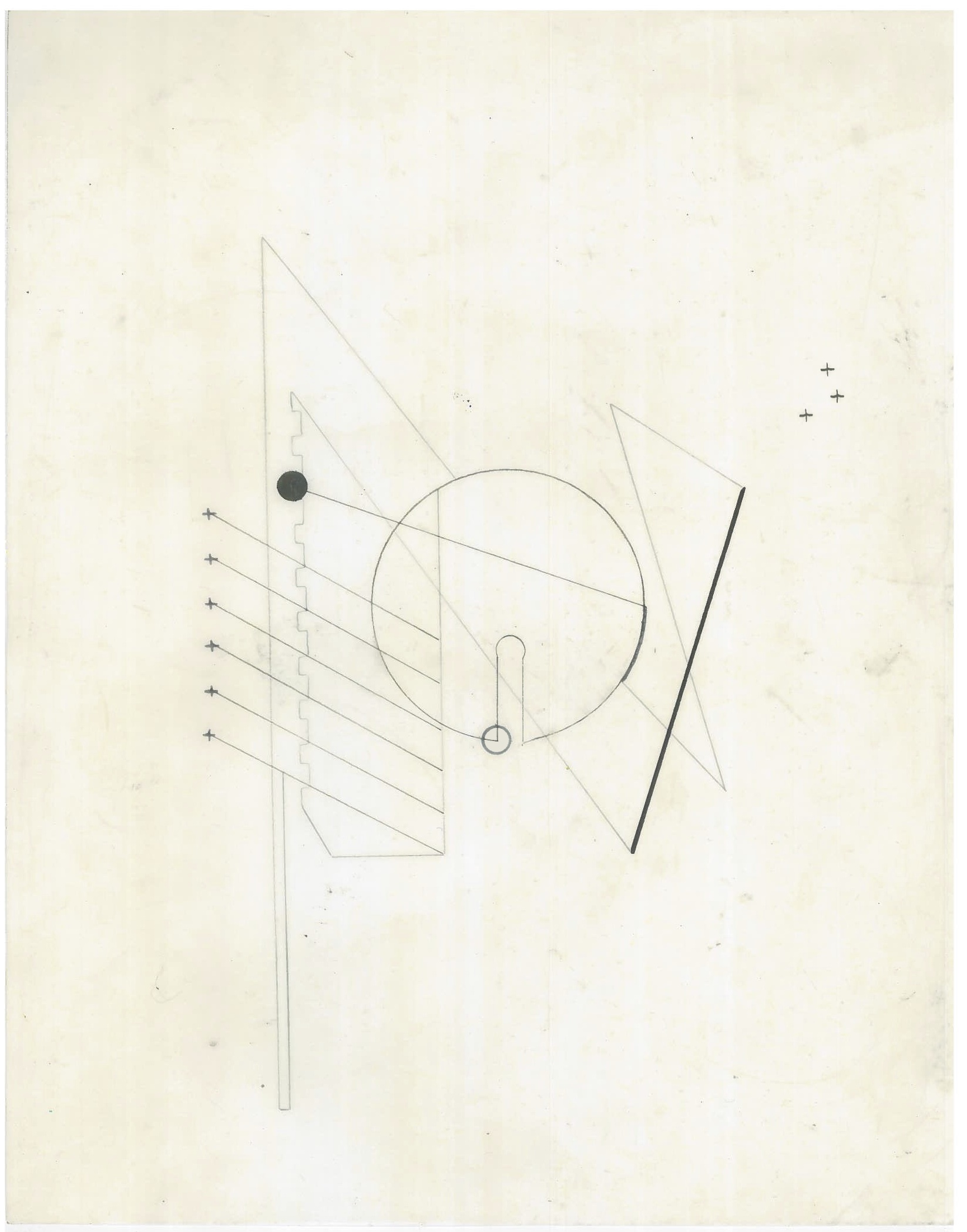 Untitled (the city, observations 21B)  Pencil on oiled fabriano paper  279mm x 216mm  December 2013