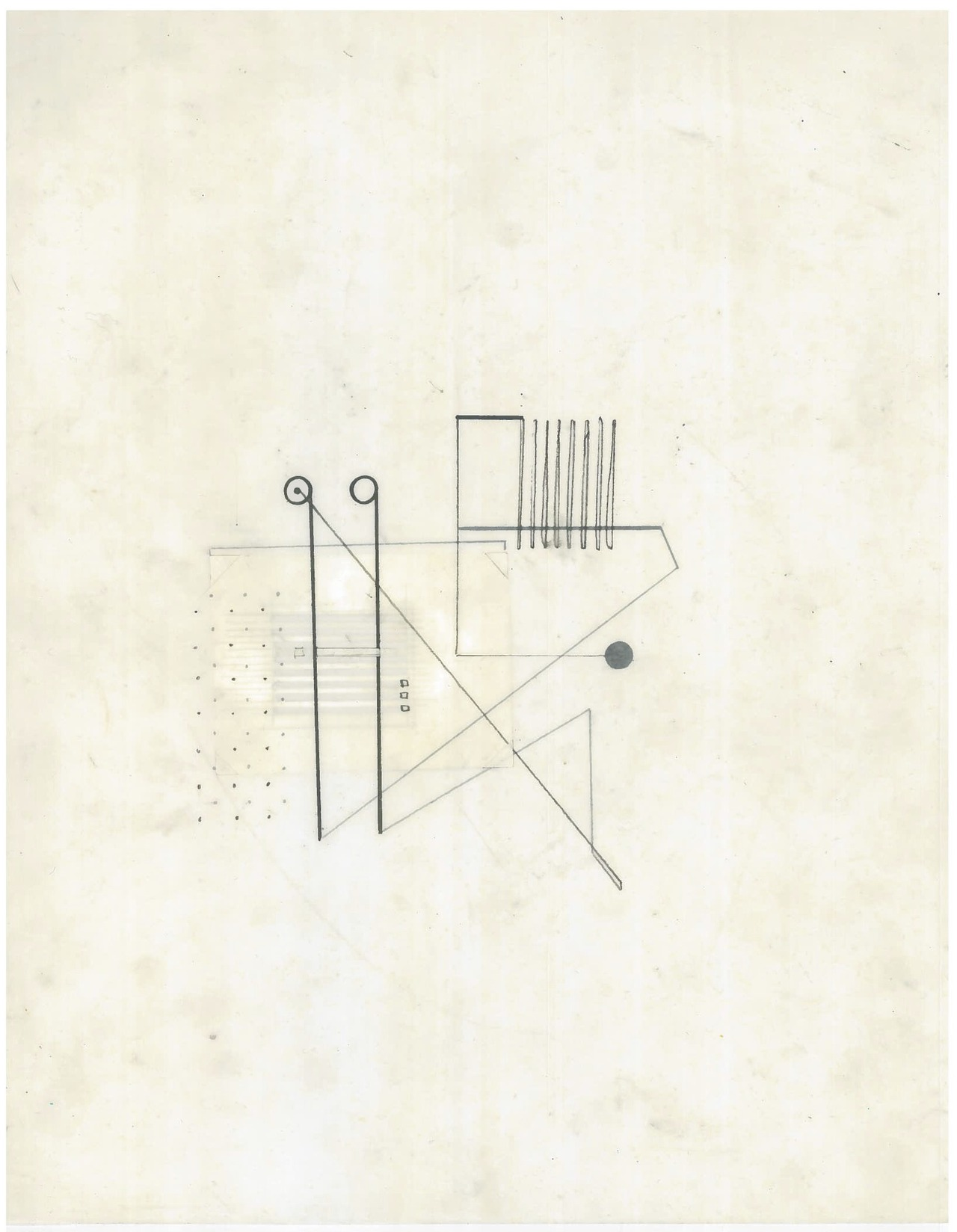 Untitled (the city, observations 20B)  Pencil and collage on oiled fabriano paper  279mm x 216mm  December 2013