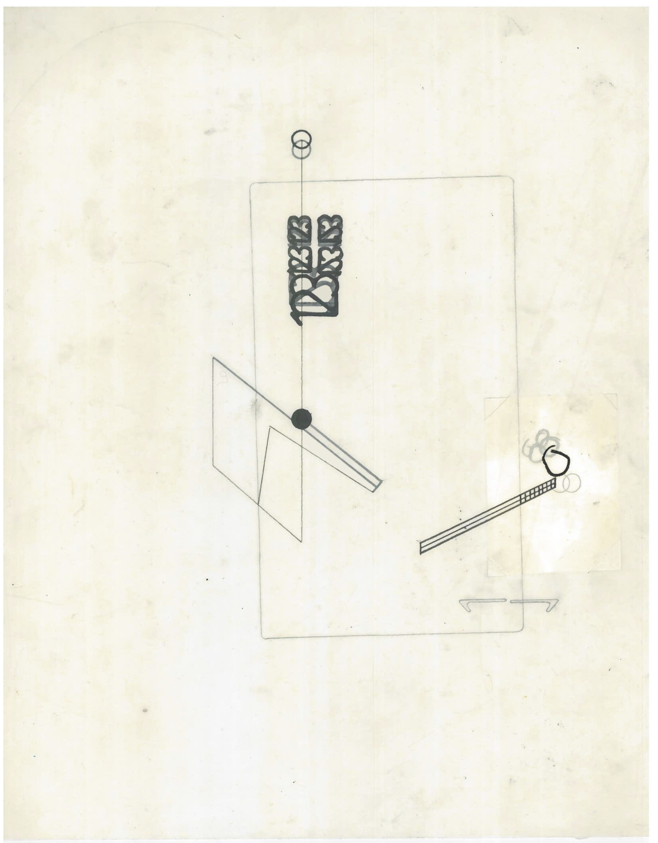 Untitled (the city, observations 19B)  Pencil and collage on layered oiled fabriano paper  279mm x 216mm  December 2013
