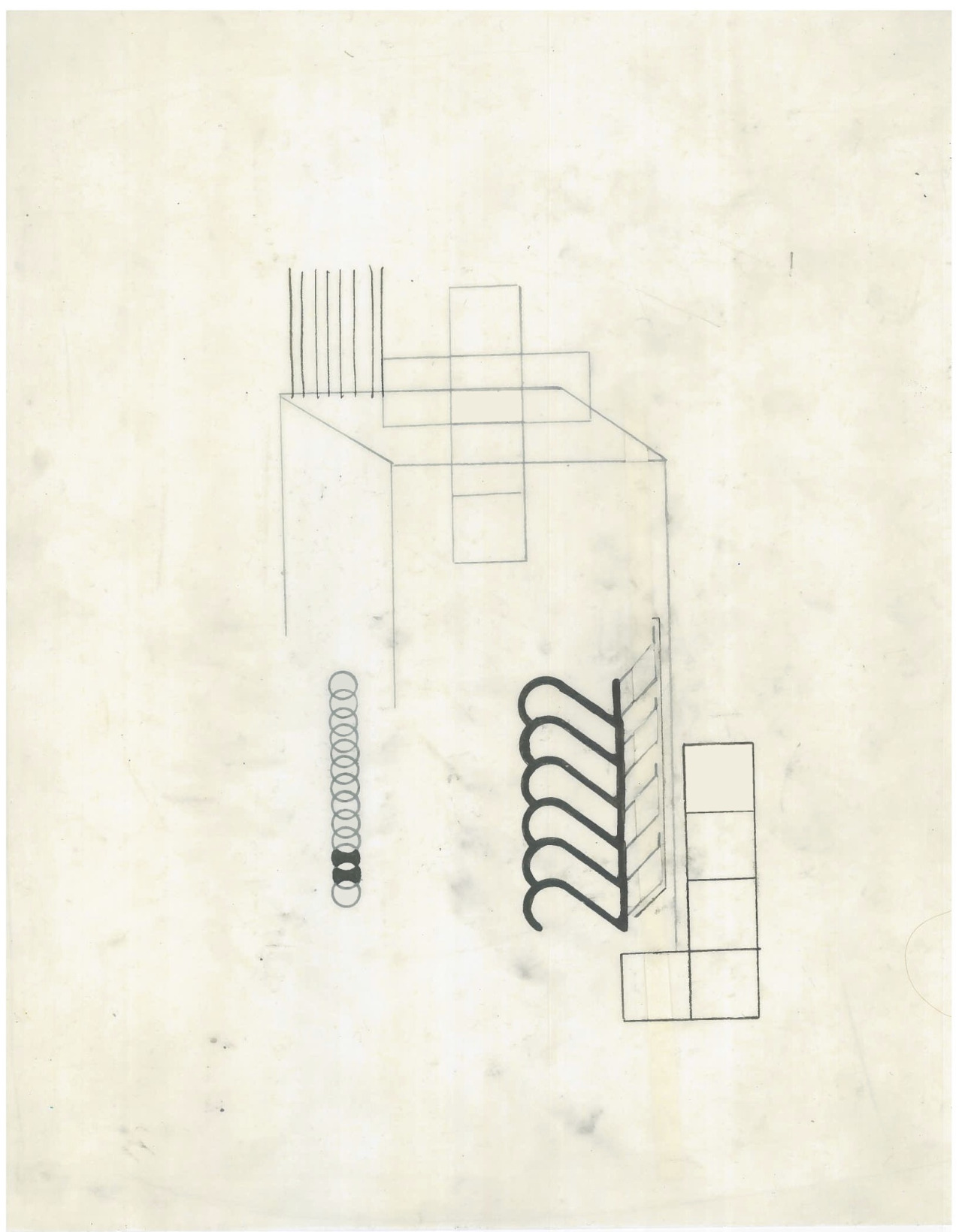 Untitled (the city, observations 19A)  Pencil, collage and layered oiled fabriano paper.   279mm x 216mm  December 2013