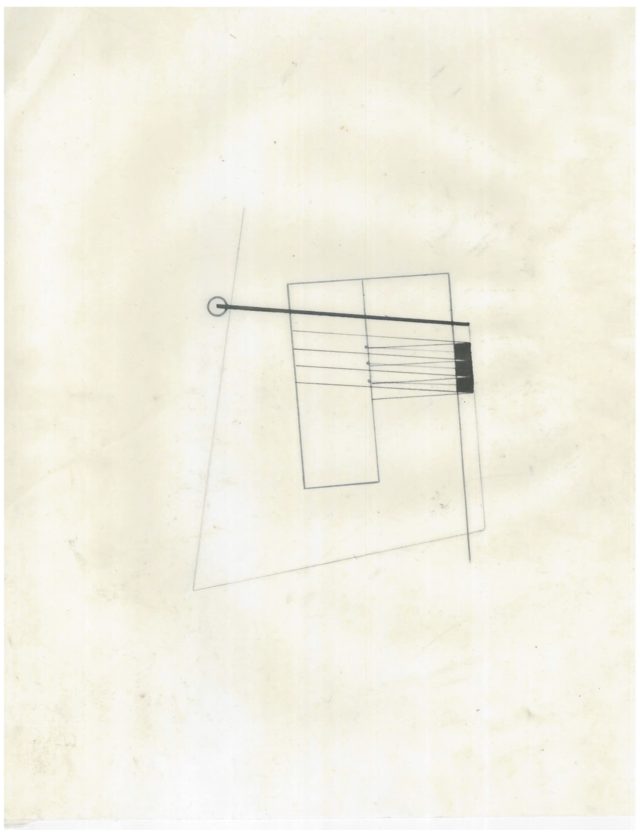 Untitled (the city, observations 17A)  Pencil on oiled fabriano paper  279mm x 216mm  December 2013