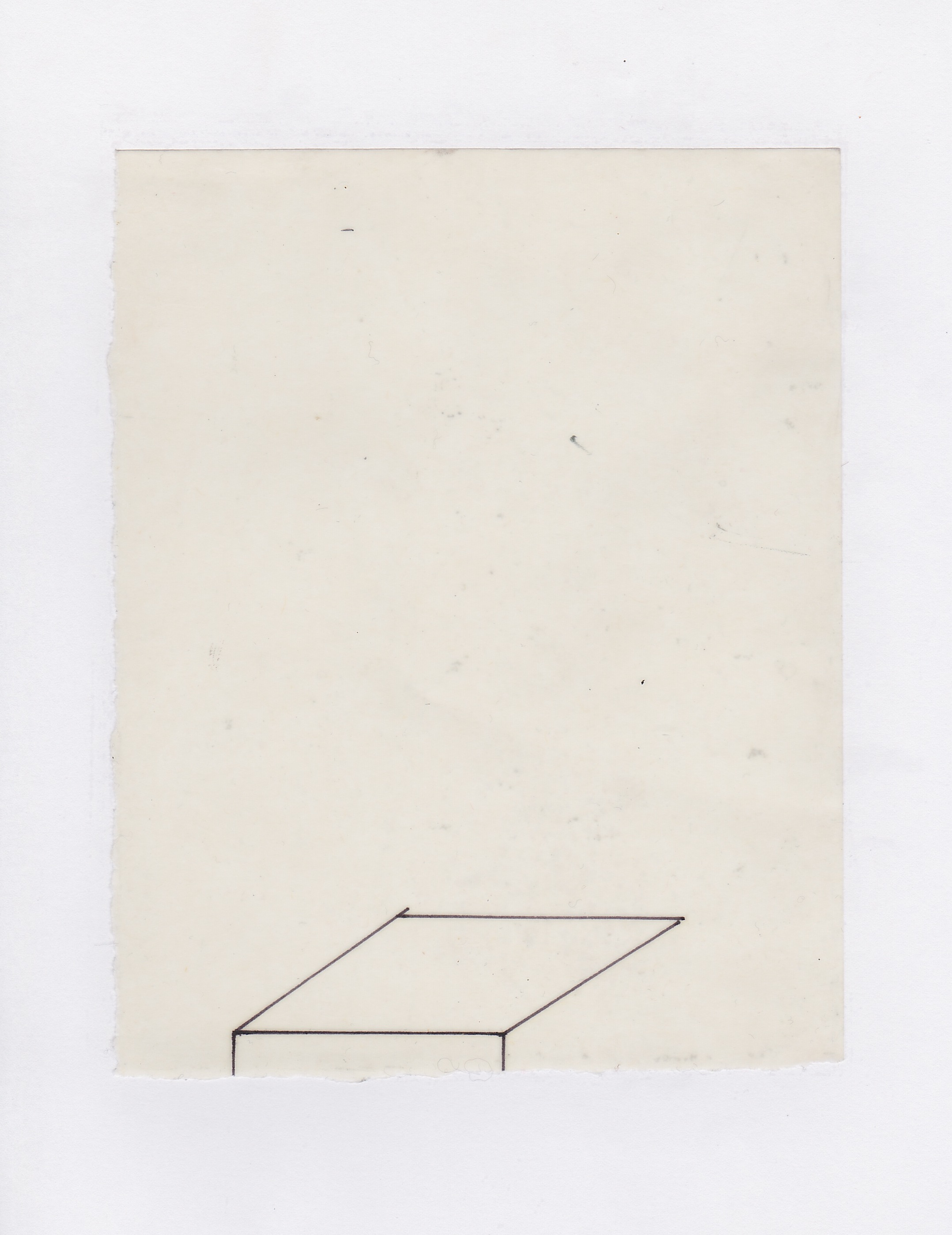 Untitled (the city, observations 04)  Pencil on oiled fabriano paper.  140mm x 180mm  December 2013.