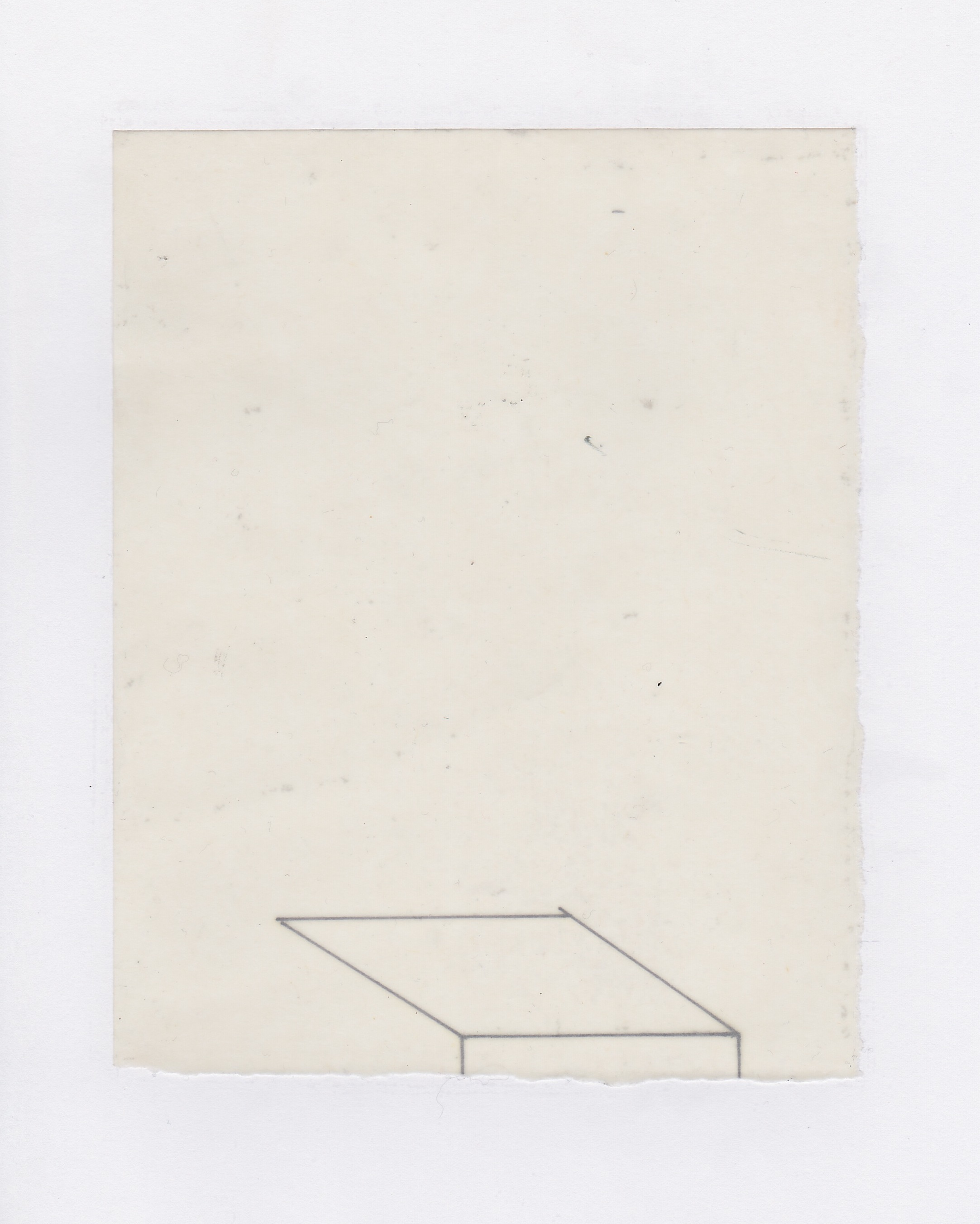 Untitled (the city, observations 04A)  Pencil on oiled fabriano paper.  140mm x 180mm  December 2013.