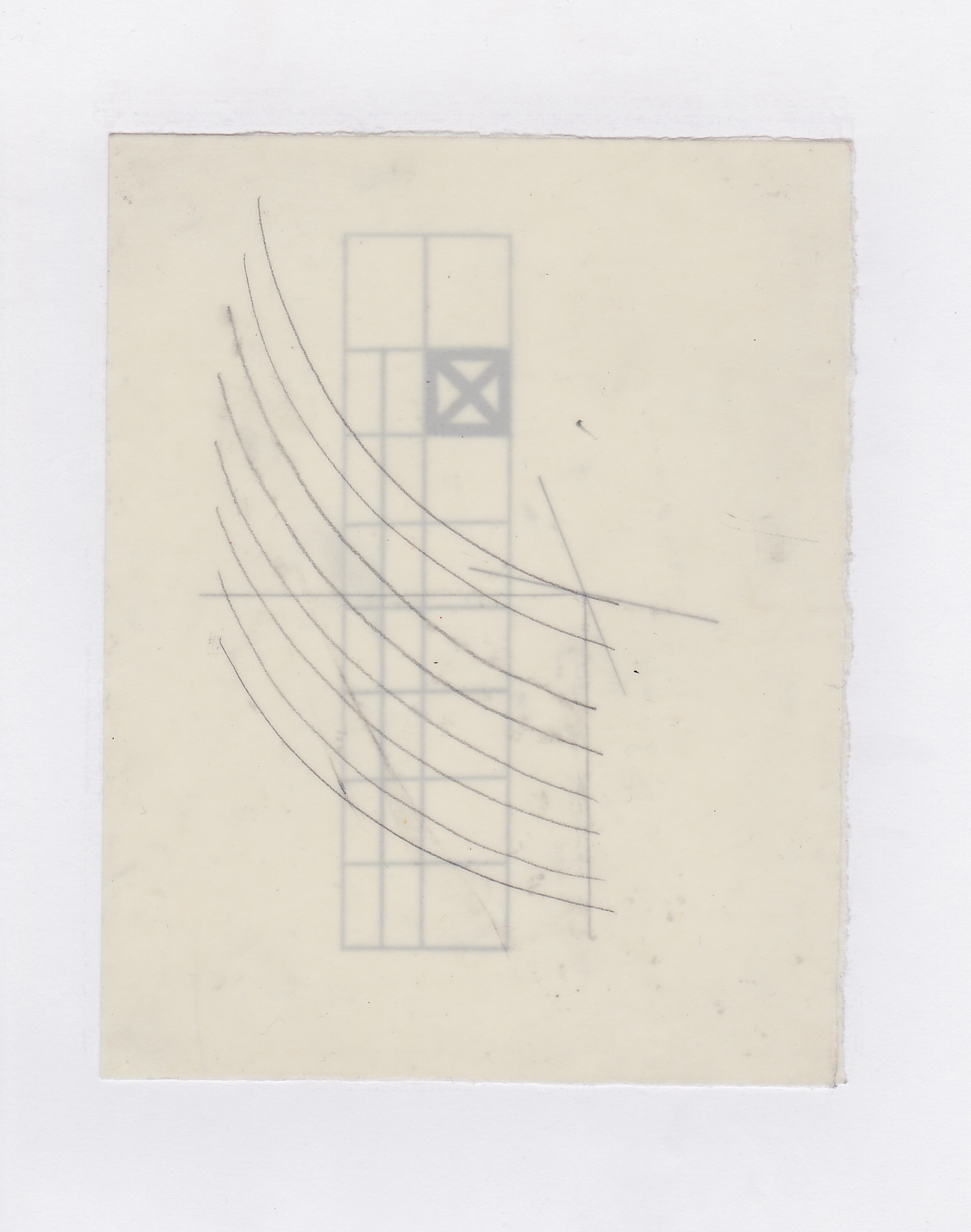 Untitled (the city, observations 06)  Pencil on oiled fabriano paper.  140mm x 180mm  December 2013.
