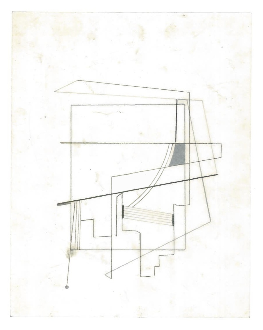 Sequential Architecture (the city, observations 28A)  Pencil on oiled fabriano paper  140mm x 180mm  NY, December 2013