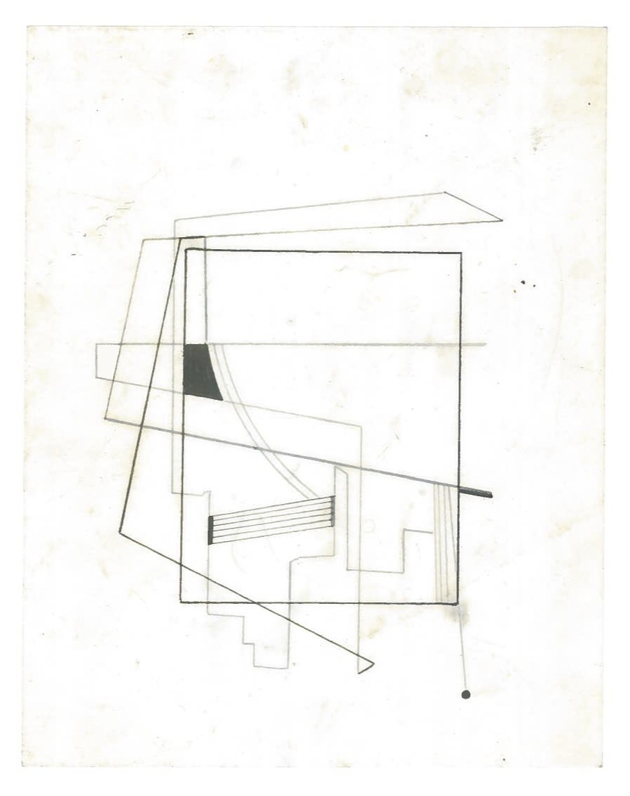 Sequential Architecture (the city, observations 28B)  Pencil on oiled fabriano paper  140mm x 180mm  NY, December 2013