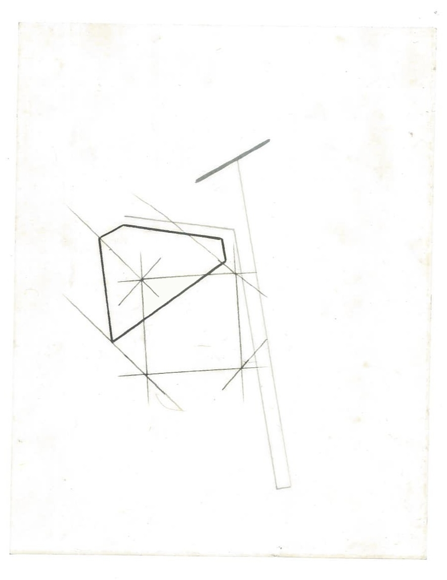 Sequential Architecture (the city, observations 33A)  Pencil on oiled fabriano paper  140mm x 180mm  NY, December 2013