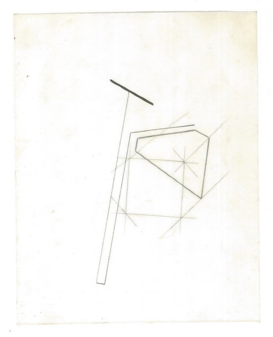 Sequential Architecture (the city, observations 33B)  Pencil on oiled fabriano paper  140mm x 180mm  NY, December 2013