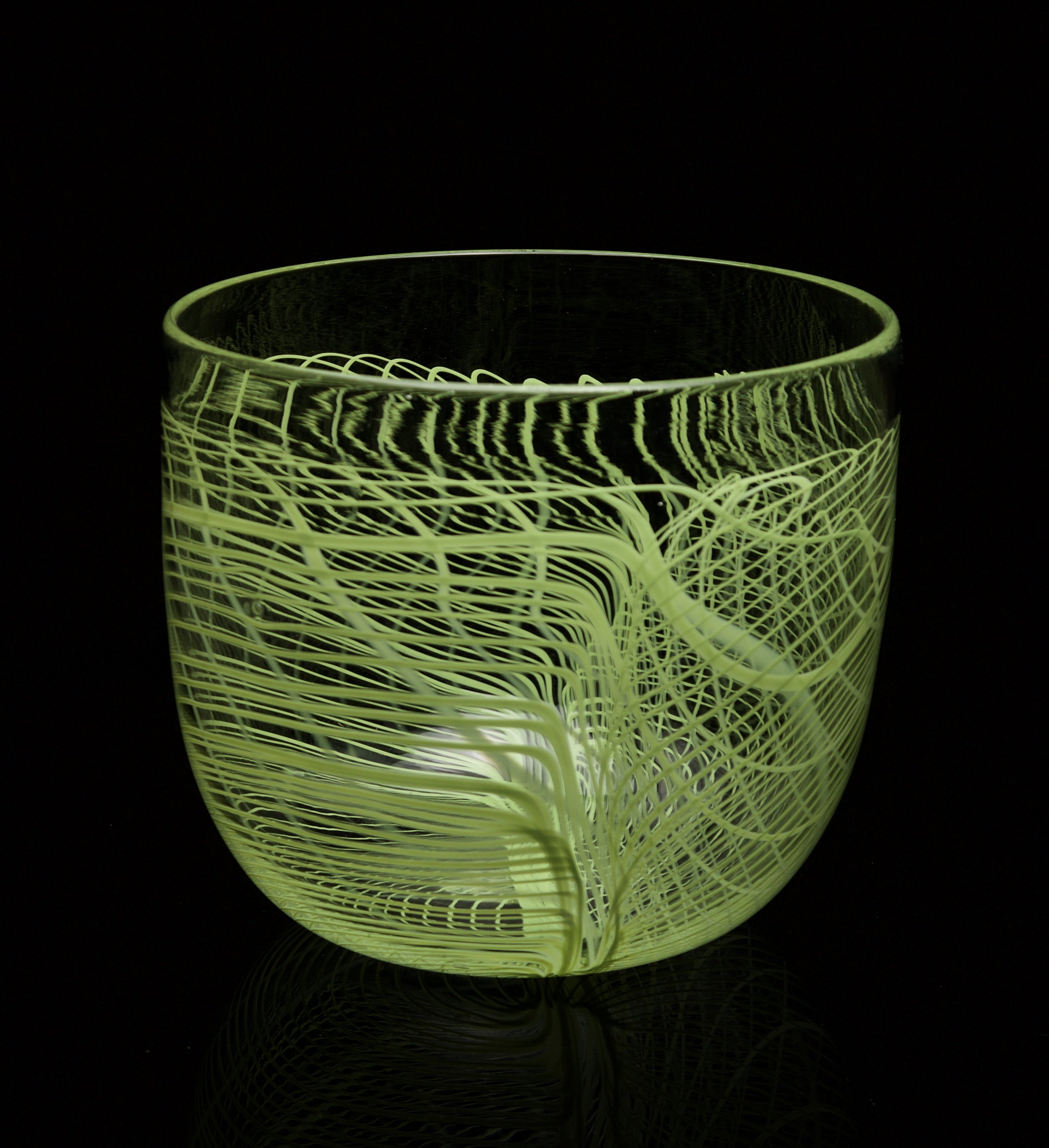 Green Folded Web Bowl