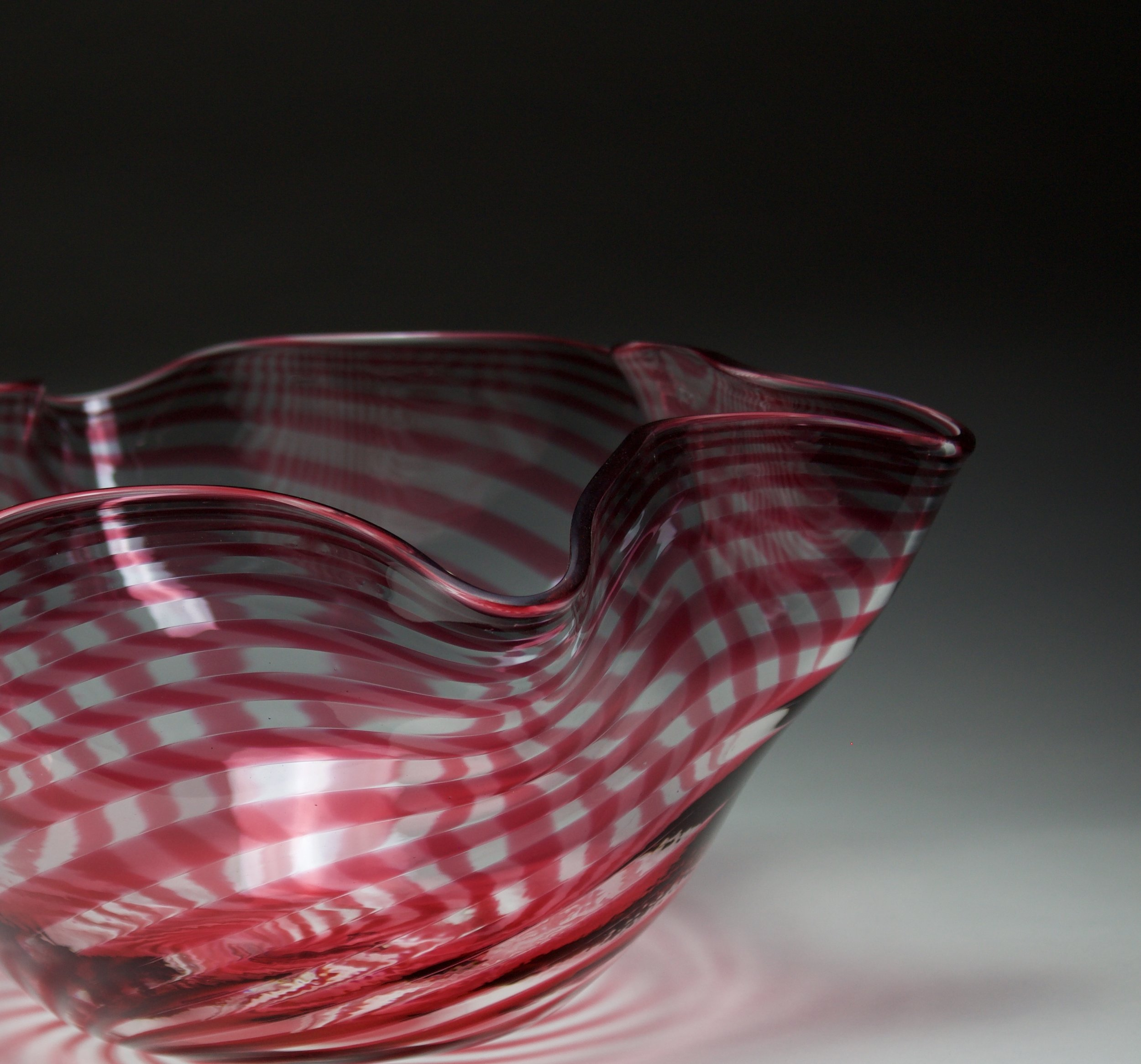 Ruby Striped Bowl
