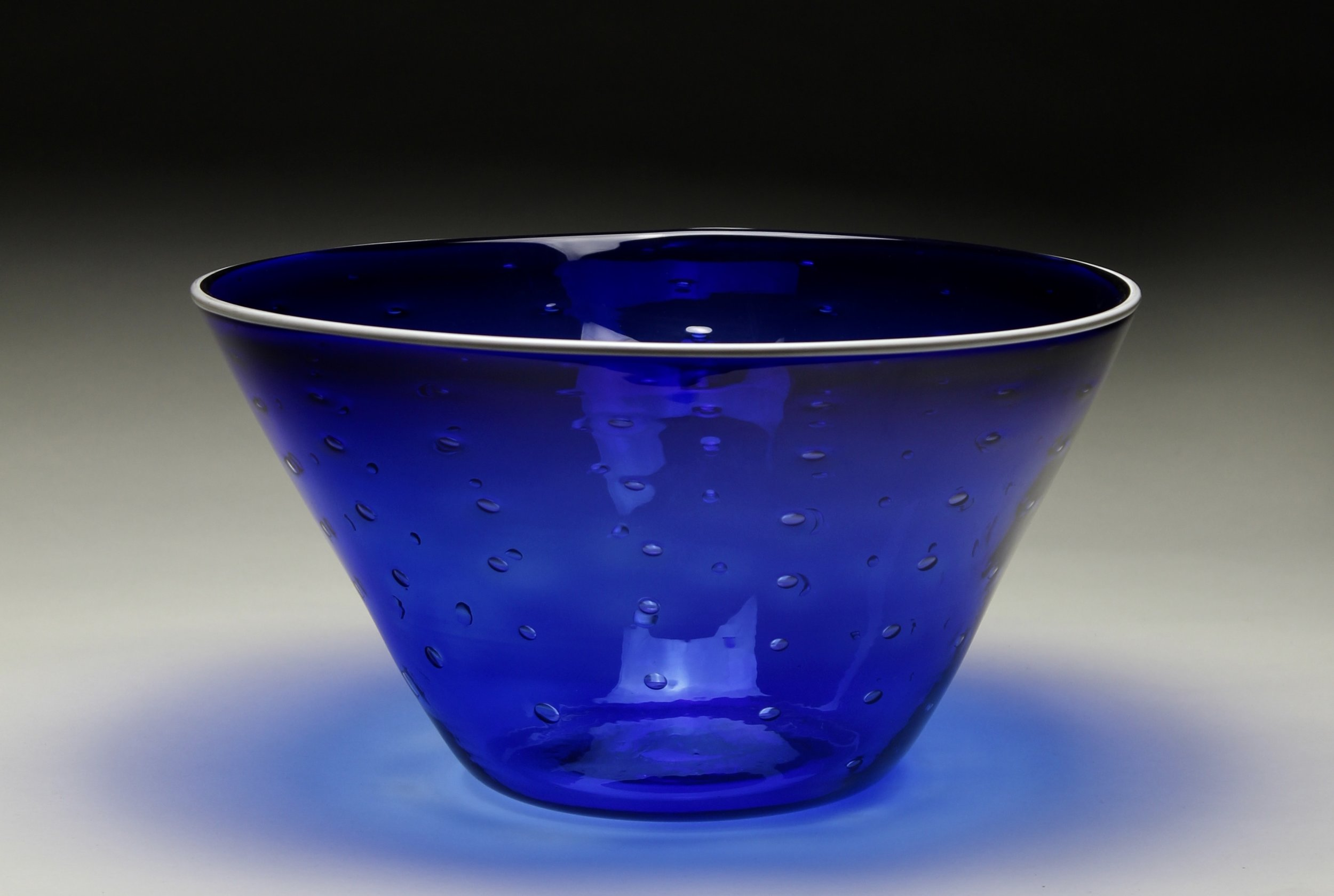 White and Cobalt Bowl