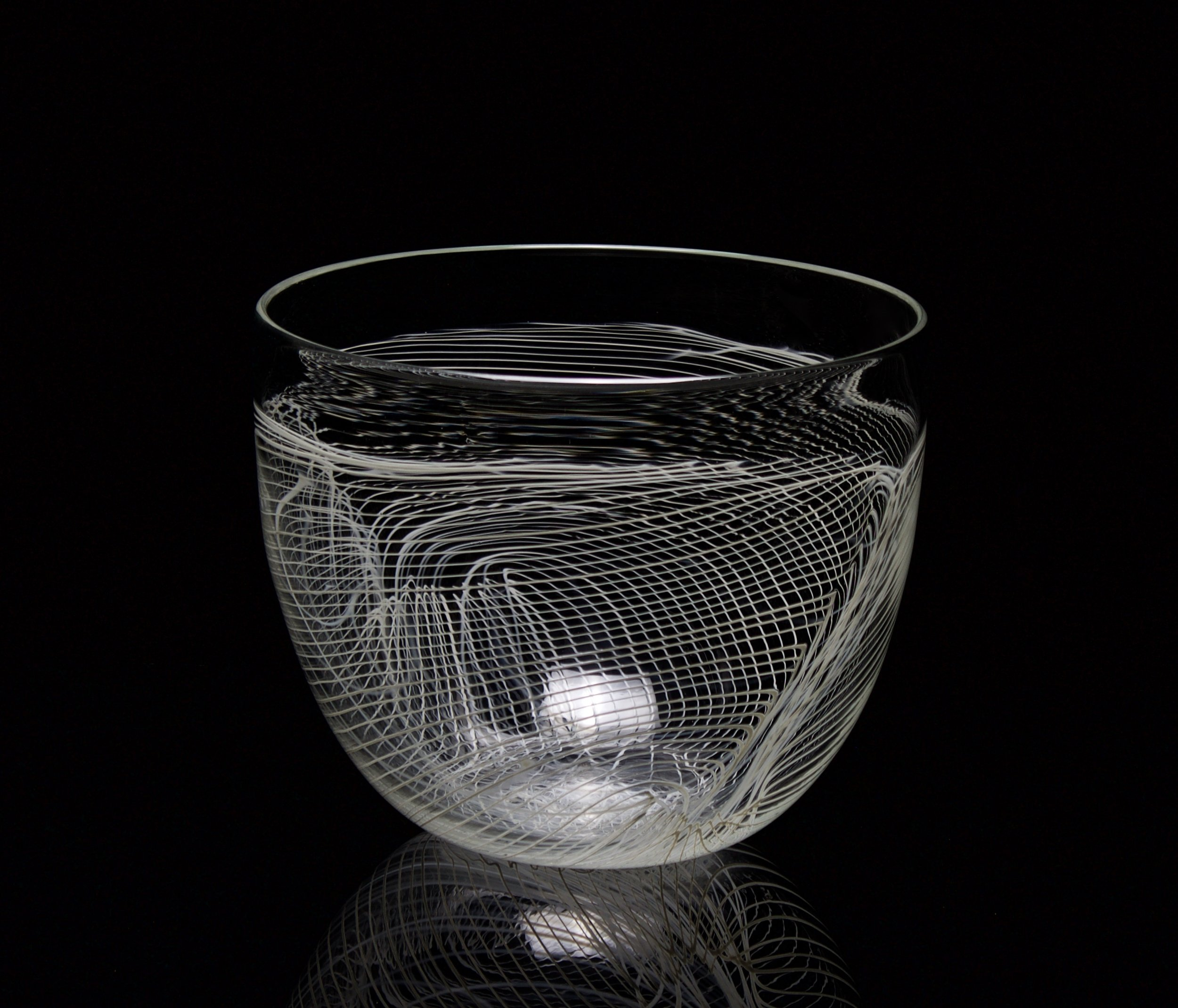 Gray Folded Web Bowl