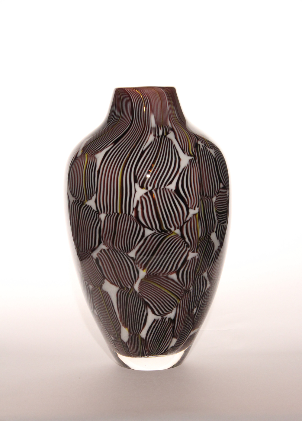 Purple and White Mokume
