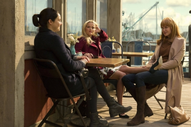 Pictured: Shailene Woodley , Reese Witherspoon and Nicole Kidman | Source: HBO | Hilary Bronwyn Gayle