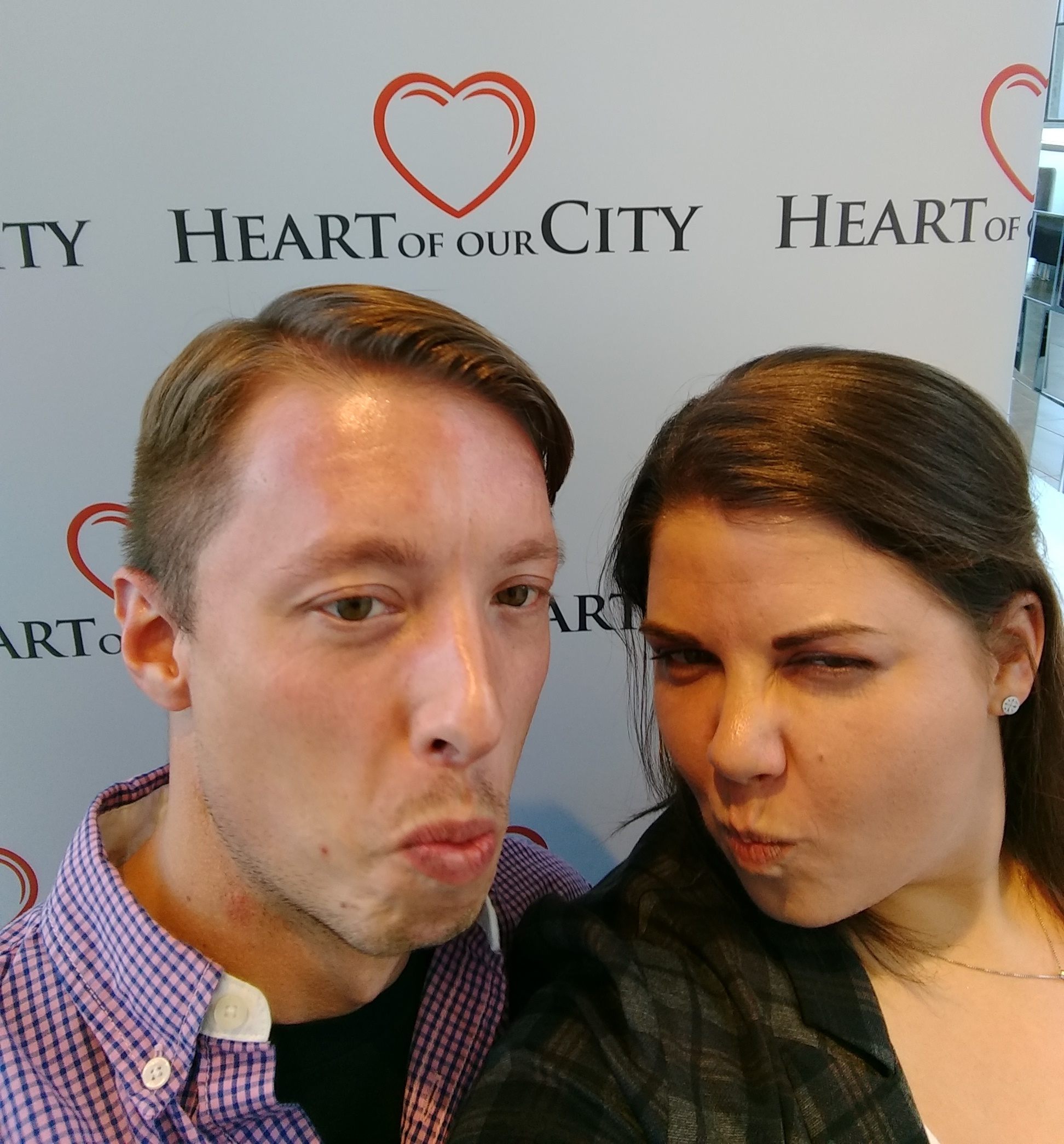 Tim & Andrea @ The Heart of the City awards presented by the Downtown BRZ.