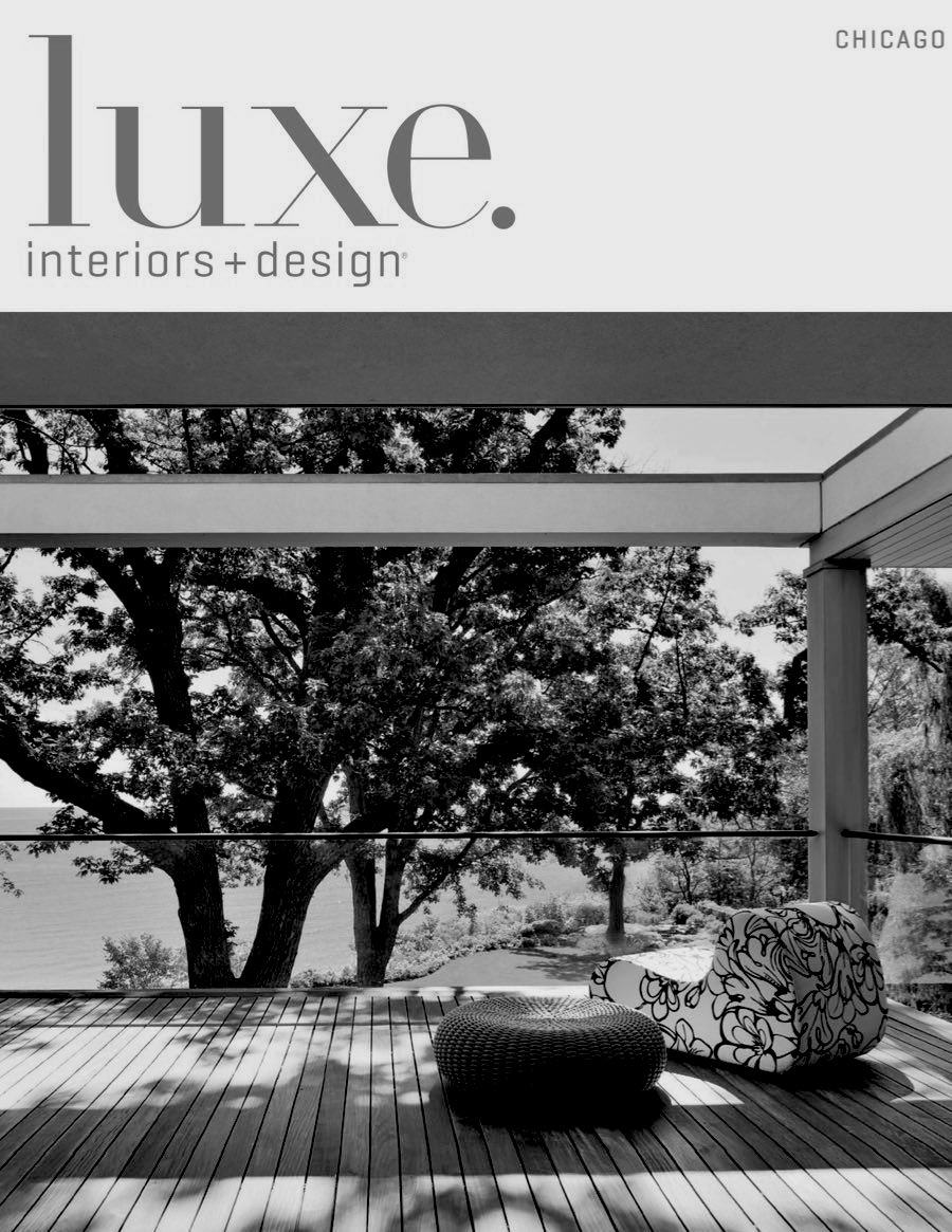 "LUXE Interiors + Design (Fall 2016)    ""Meeting of the Minds. The prolific design team behind Chicago's Lake + Wells creates lighting and products with a timeless presence."""