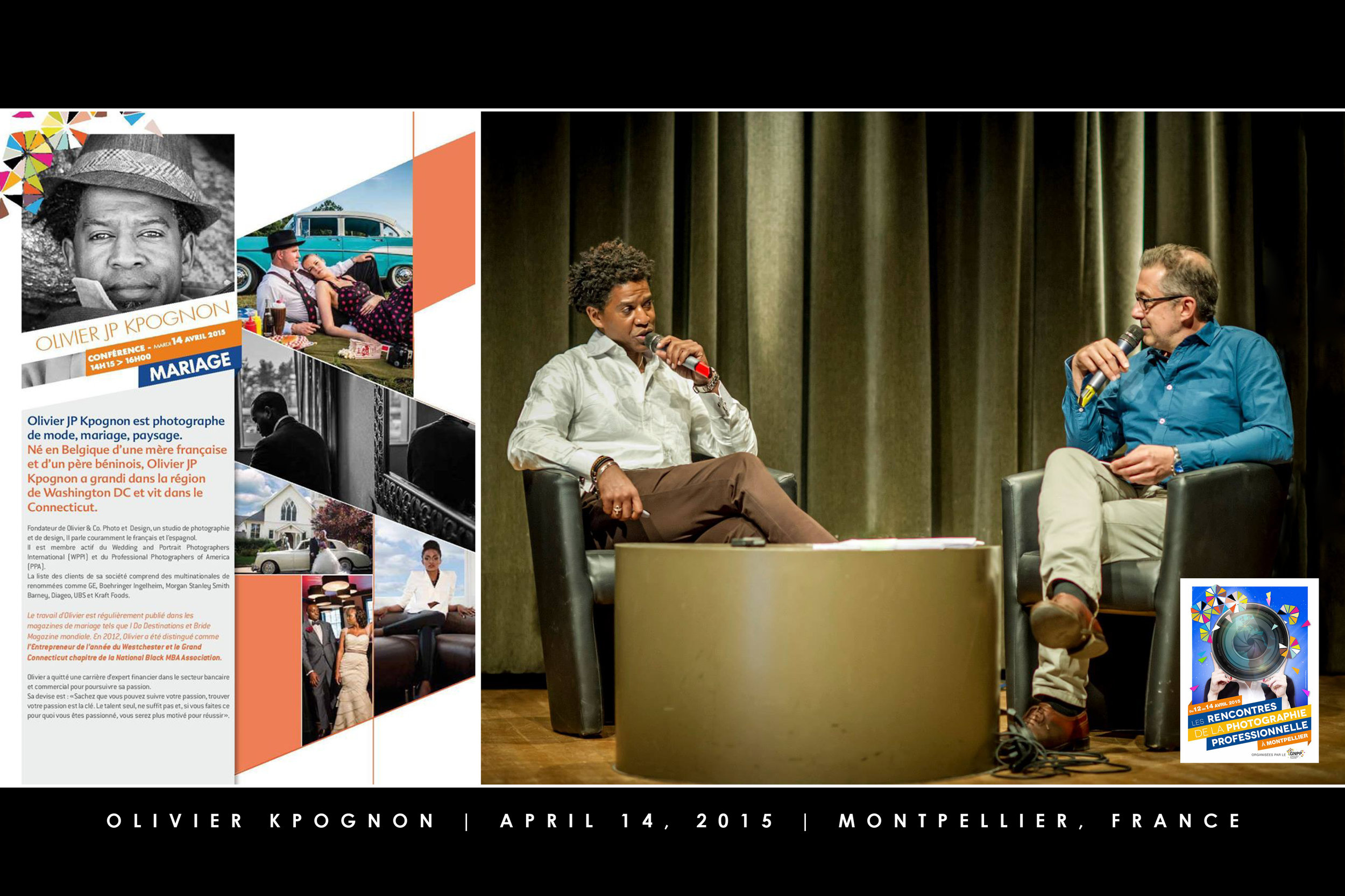 Keynote speaker for a photography symposium in Montpellier, France