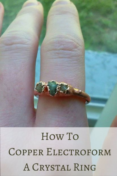How To Copper Electroform A Ring by MakerMonologues.com - Pin this image to your jewelry making board for later reference.