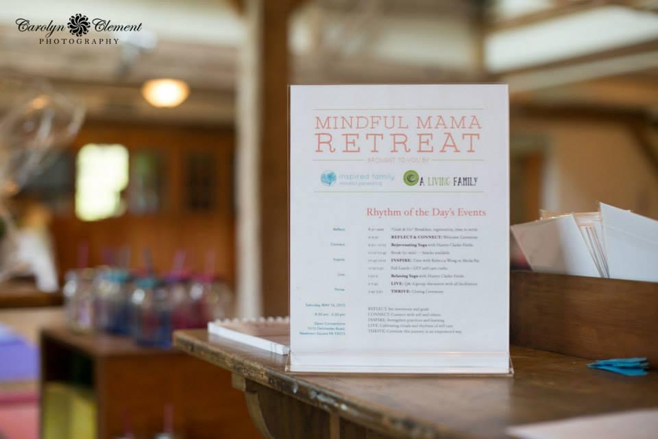 Mindful Mama Retreat 5.2015 registration table.jpg
