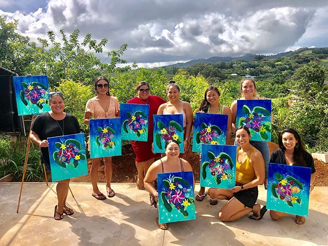 ✨Mahalo to this awesome chick for making us a part of her Birthday Celebration! Nothing like a Paint Party & Mimosa Bar to have a good time! ✨🎉🥂🍓 . . . . . #paintdrinkcreate #paradisepalette #artnight #kauaiart #kauiaartist #paintandsip #sipandpaint #aloha #kauaievents #kauaiactivities #lethawaiihappen #luckywelivekauai #luckywelivehawaii #kauai #hawaii #travelkauai #birthday #paintparty  #gno #ladiesnight #girlsnight #dosomethingdifferent #celebrate #havefun #relax #enjoylife #therapeutic #havealohawilltravel #kauaihawaii #painting