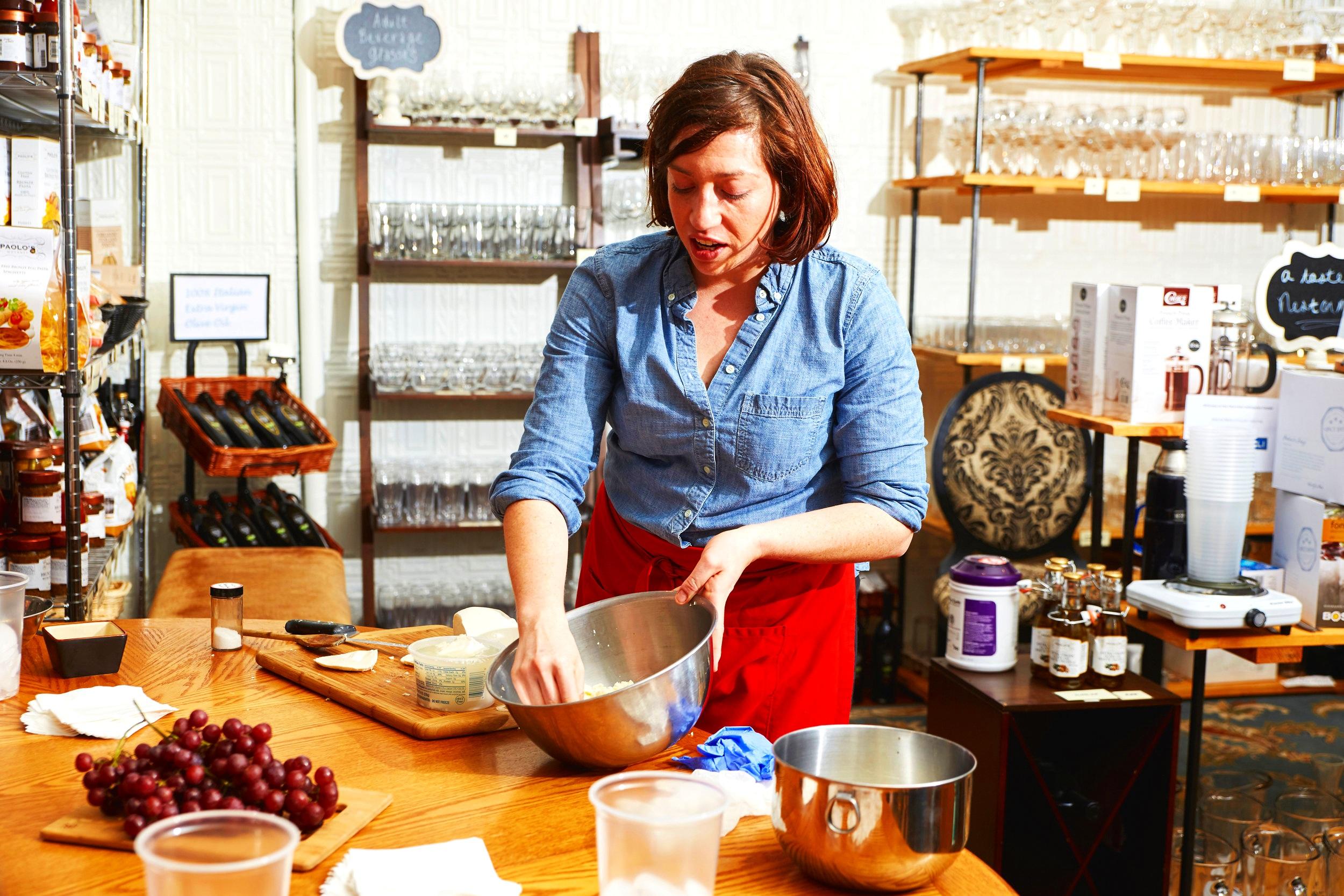 Jessica Affatato Mozzarella Making