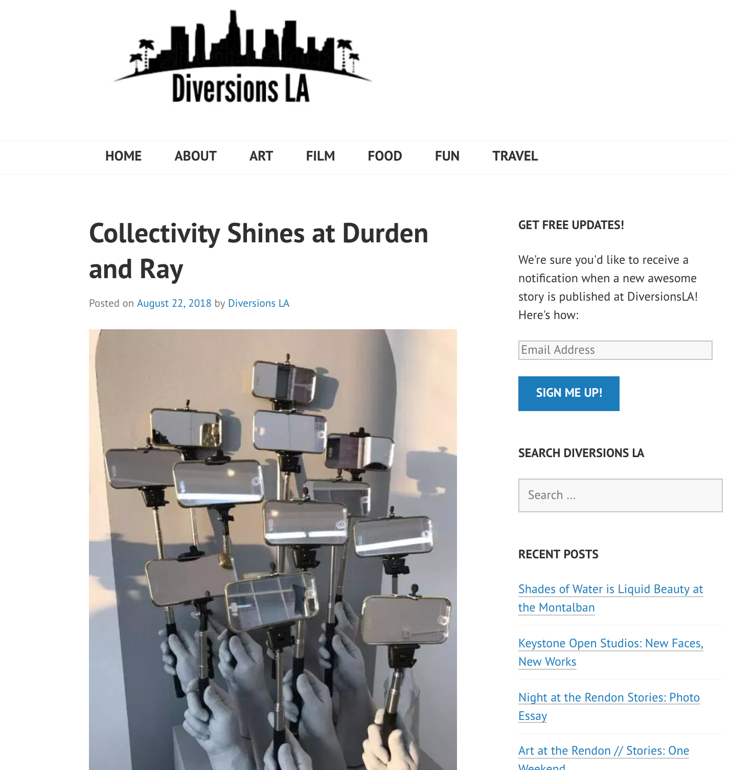Collectivity Shines at Durden and Ray - Closing this weekend, Collectivity at Durden and Ray gives viewers a blueprint for the modern world. A joint-exhibition between two art collectives – Hyperlink in Colorado Springs, and Durden and Ray here in Los Angeles – hence the title – the show was collaboratively curated by UCCS Galleries of Contemporary Art Director Daisy McGowan and Durden and Ray artists Lana Duong and David Spanbock. Representing the works of 12 artists from each collective, the show offered a fresh look at image making, and what these images mean to us.Genie Davis - Diversions