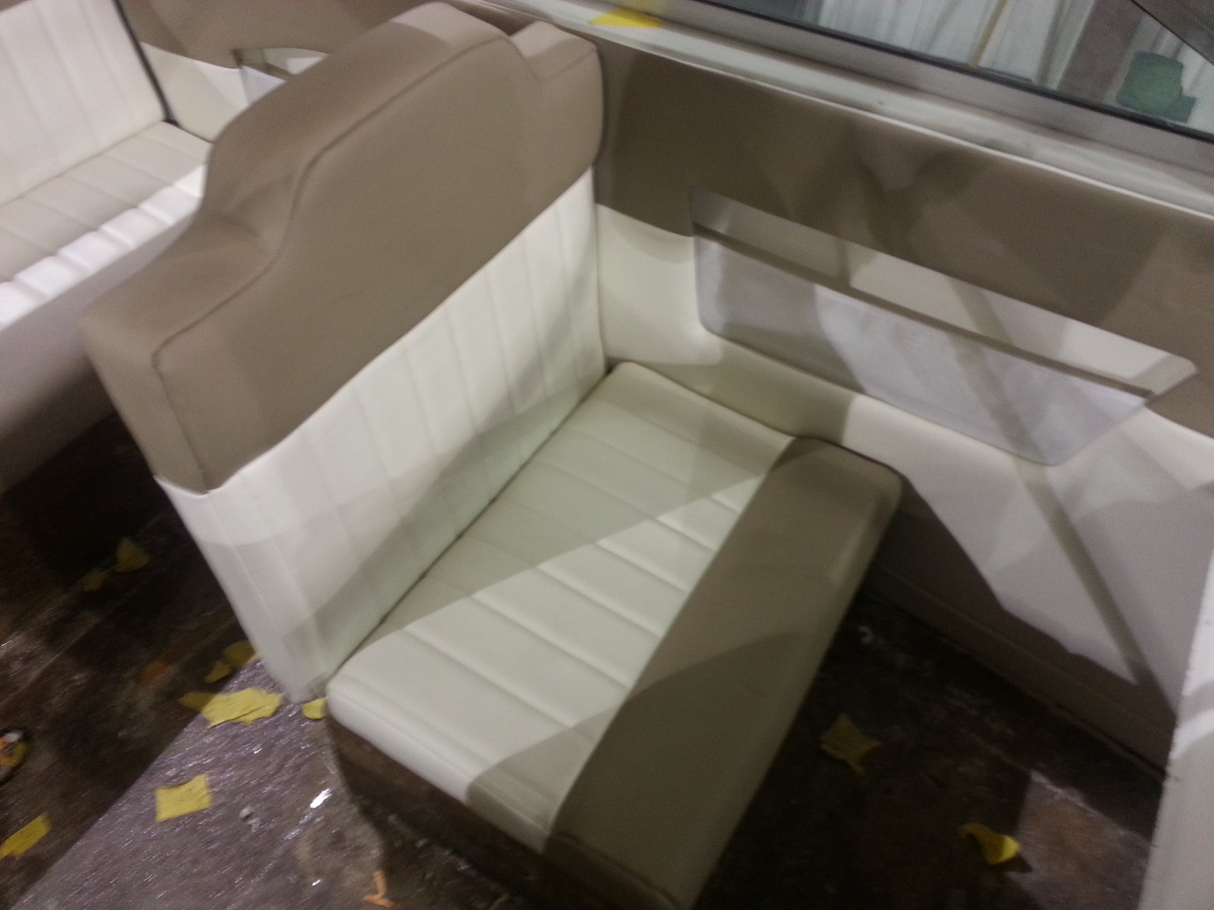 custom upholstery and sewing for marine and automotive interiors in michigan and canada and ohio with vinyl and leather furniture