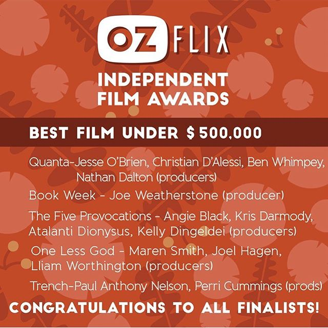 Thx to @ozflixtv for the nomination. Bit exciting for our tiny little underdog film.