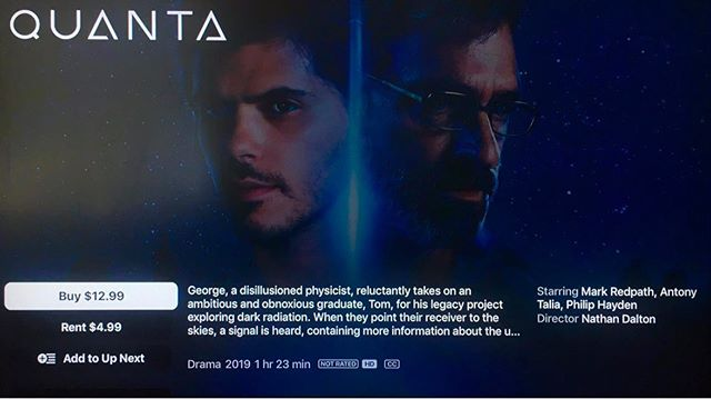 North America - QUANTA is now available on VOD through Apple TV, iTunes, Amazon Video, Google Play, Microsoft, Fandango Now & Vudu.  Let us know what you think!  Australia- coming soon