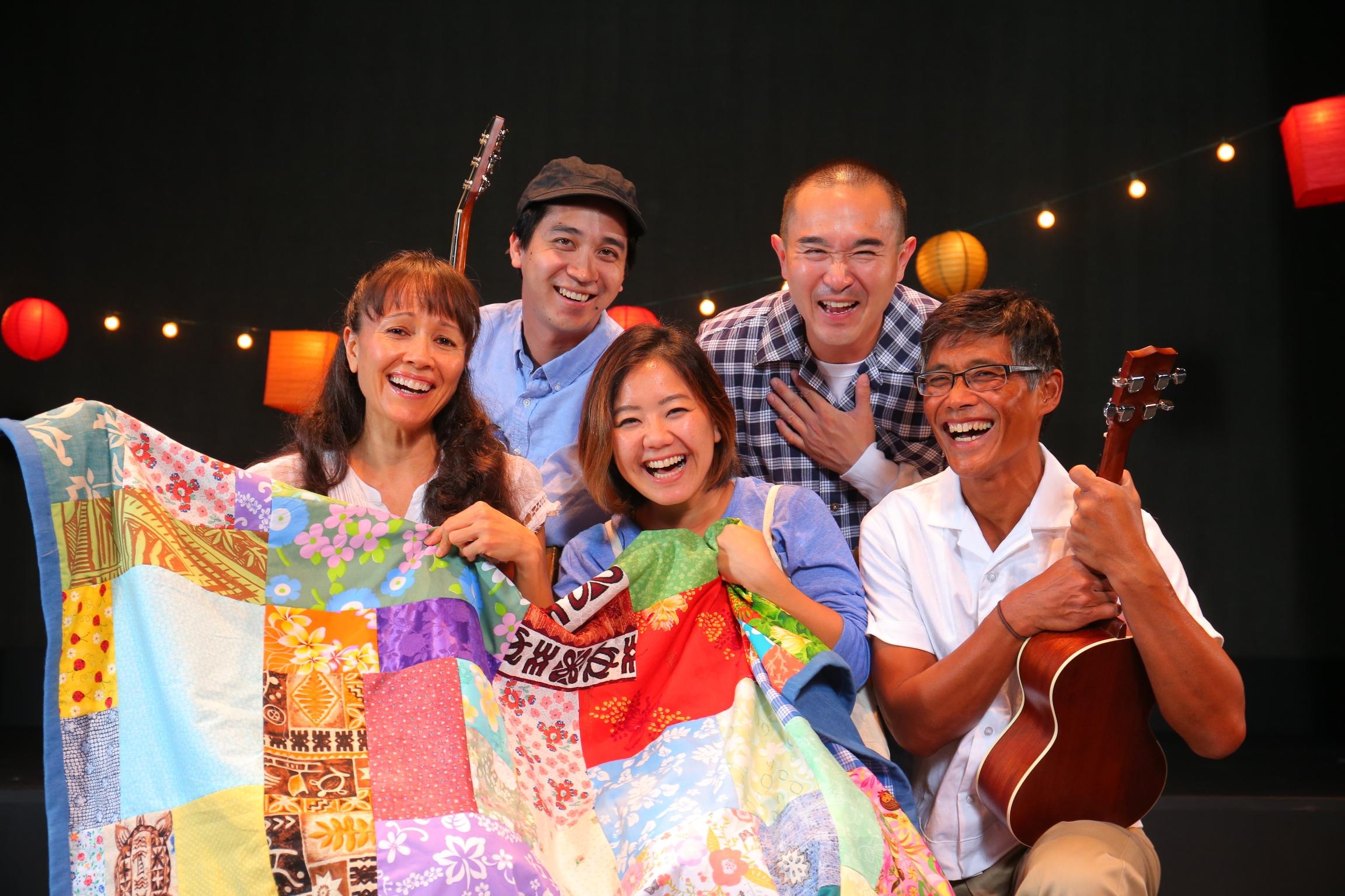 (T-B, L-R)   Sean-Joseph Choo, Alvin Chan, Maile Holck  , Christina Uyeno, Junior Tesoro. Photo credit Brad Goda.