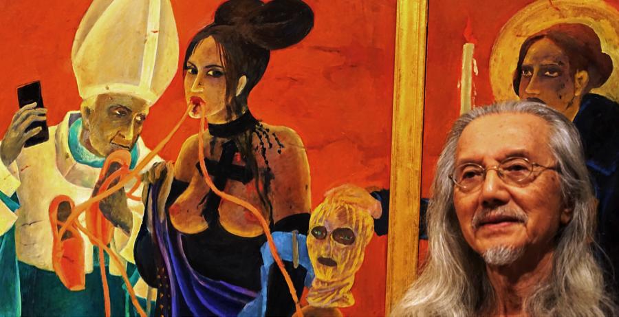 Pussy Riot Gothic Kubie Triptych Series in progress 2017