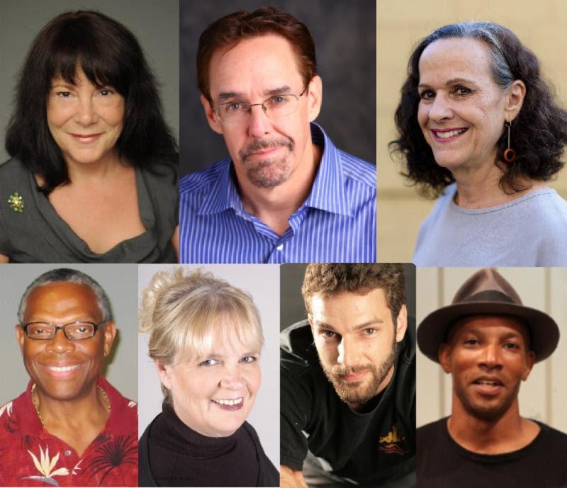 Featuring (l-r, top to bottom): Rebecca McCarthy,Tim Jeffryes,Ann Brandman, James Roberts,Michelle Van Hessen, Thomas Smith,&Vontress Mitchell.