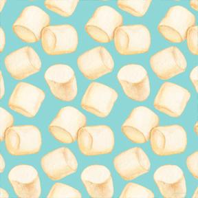 Marshmallows - Blue