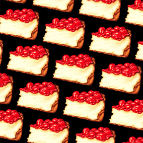 Cherry Cheesecake - Black