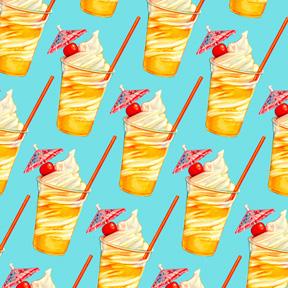 Pineapple Ice Cream Float