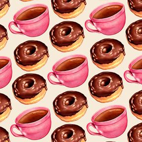 Coffee & Chocolate Donuts