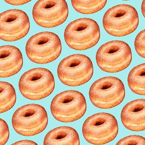 Sugar Donut - Blue