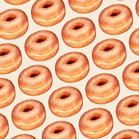 Sugar Donut - White
