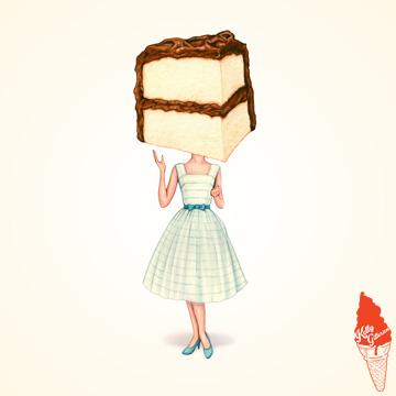 """Cake Head Pin-Up: Chocolate"" 2018."