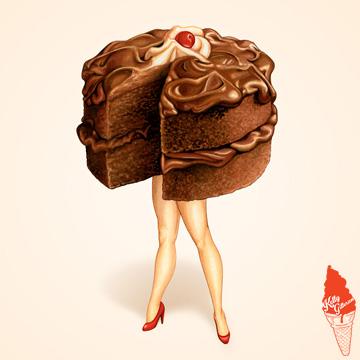 """Hot Cakes: Chocolate Ganache"" 2016."