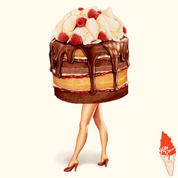 """Cake Walk: Chocolate Raspberry"" 2016."