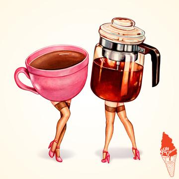 """""""Perked Up! Coffee & Percolator Girls"""" 2018."""