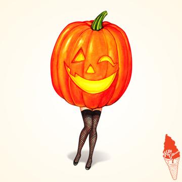 """""""Pumpkin Pin-Up"""" 2018."""