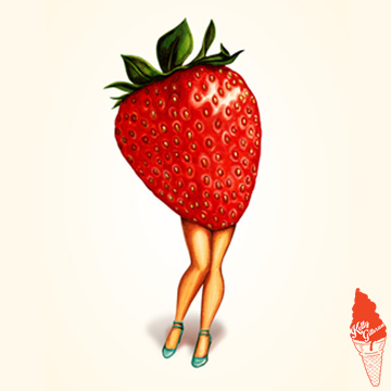"""""""Fruit Stand: Strawberry"""" 2016."""