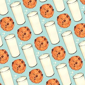 Milk & Cookies - Blue