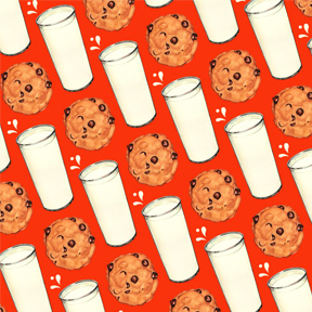 Milk & Cookies - Red